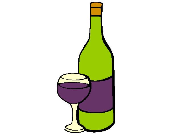 Dibujo De Vino Pintado Por Antuanette En Dibujos.net El