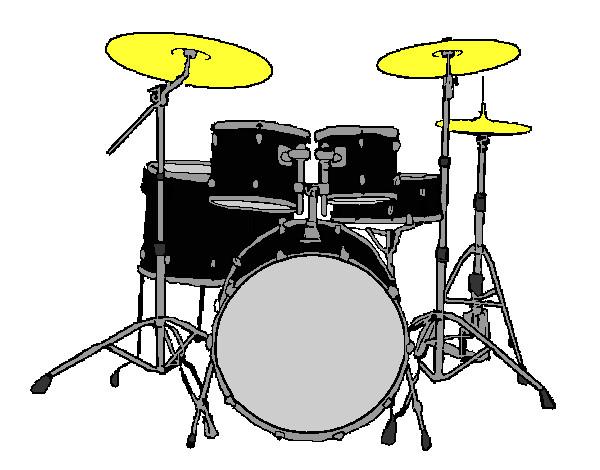 Dibujo De Batería De Percusión Pintado Por Cangrecan En