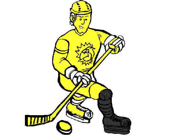 Dibujo de Jugador de hockey sobre hielo pintado por Camilaarau en ...
