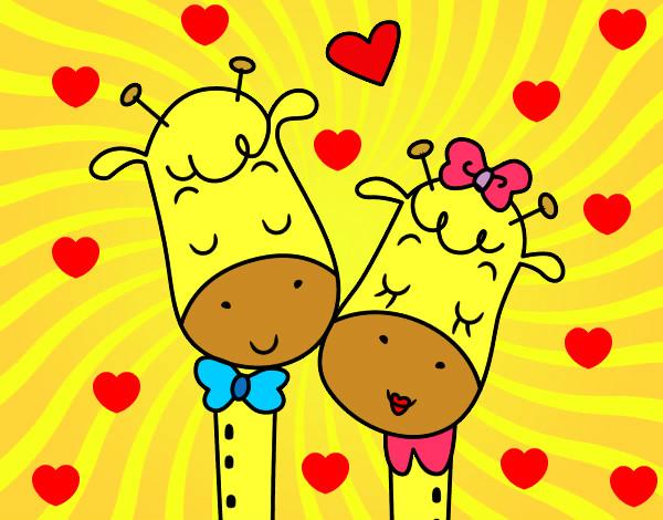 Dibujo De Jirafas Enamoradas Pintado Por Amor8020 En Dibujos Net El