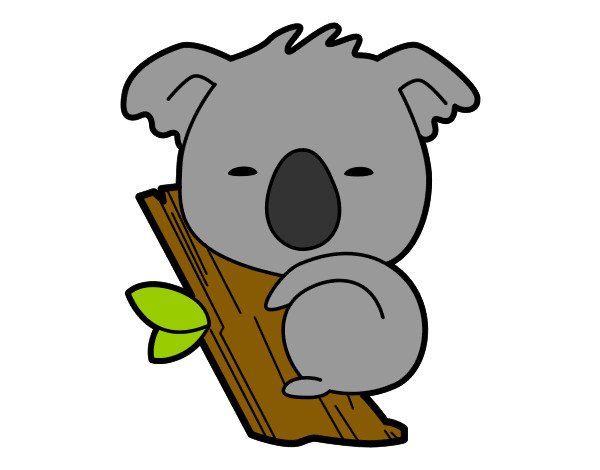 Dibujo De Koala Bebé Pintado Por Cata5634 En Dibujosnet El Día 07