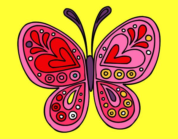 Dibujo De Mandala Mariposa Pintado Por Jovena En Dibujosnet