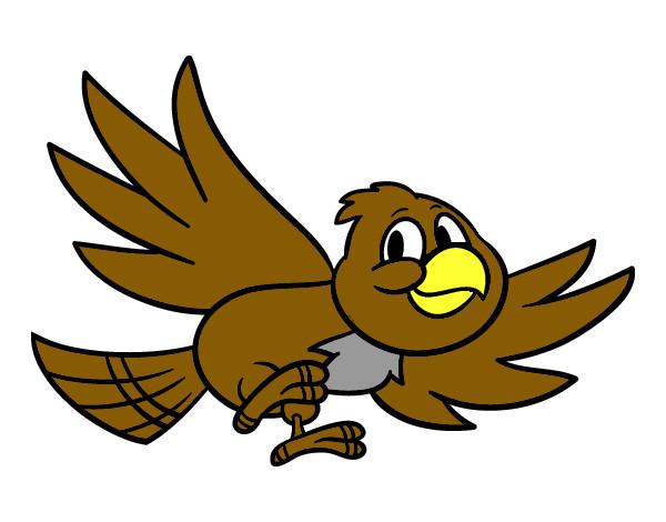 Dibujo De Pájaro Volando Pintado Por Gatito177 En Dibujos