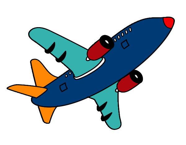 Dibujo De Avión Alzando El Vuelo Pintado Por Rockerita En