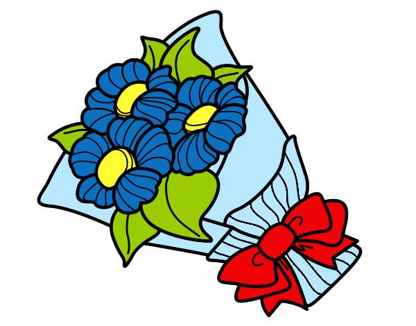 Dibujos De Ramos De Flores Para Colorear Dibujosnet