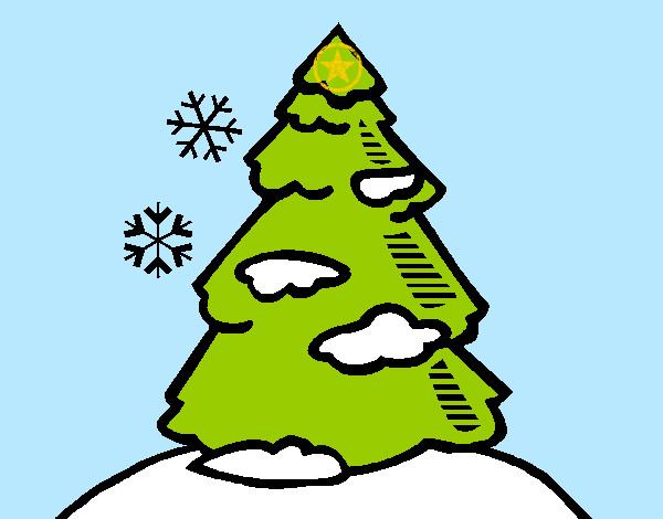 Dibujos de Árboles de Navidad para Colorear - Dibujos.net