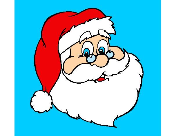 Imagenes De Papa Noel Animado.Dibujo De Cara De Papa Noel Pintado Por Any27 En Dibujos Net