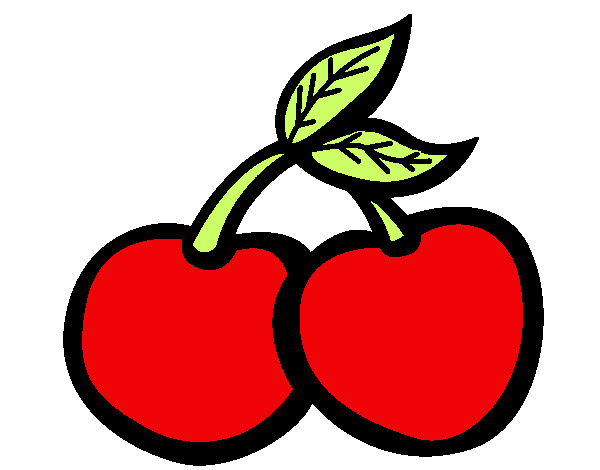 Dibujos de cerezas para colorear - Dessin de cerise ...