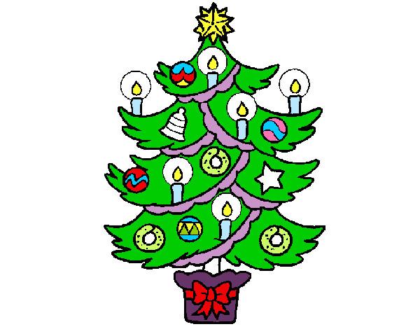 Dibujos De Arboles De Navidad Pintados.Dibujo De Arbol De Navidad Pintado Por Pilar2 En Dibujos Net