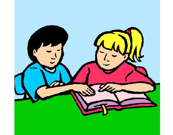 Dibujos De Niños En La Escuela Para Colorear Dibujosnet