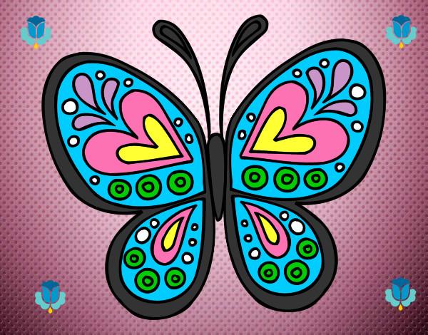 Dibujo De Una Bella Mariposa Pintado Por Julianys En Dibujos