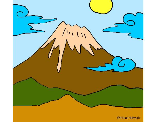 Dibujo De El Volcan Tranquilo Pintado Por Parda En Dibujosnet El