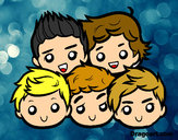 Dibujo One Direction 2 pintado por anyio16