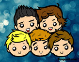 Dibujo One Direction 2 pintado por Jade1D