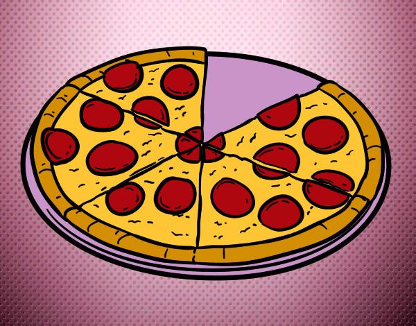 Dibujos De Pizzas Para Colorear Dibujosnet