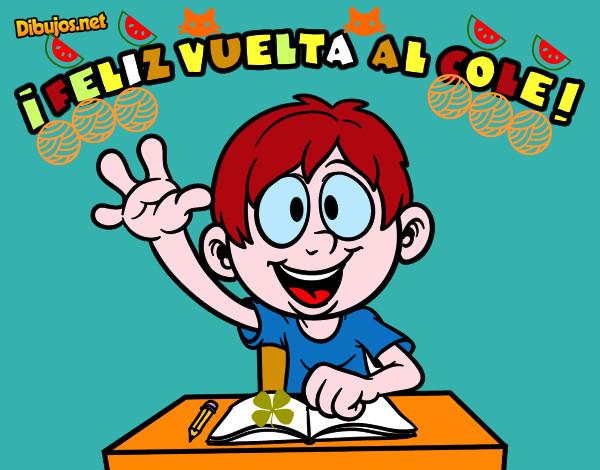 Colorear Vuelta Al Cole 15: Dibujo De Feliz Vuelta Al Cole Pintado Por Tuangelito En
