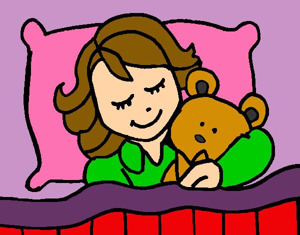 Dibujo De Niña Durmiendo Pintado Por Kittylove En Dibujos