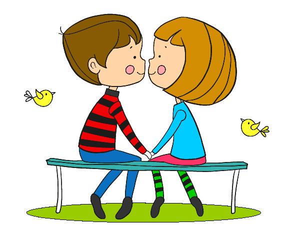 Dibujo de Jóvenes enamorados pintado por Cayo en Dibujos