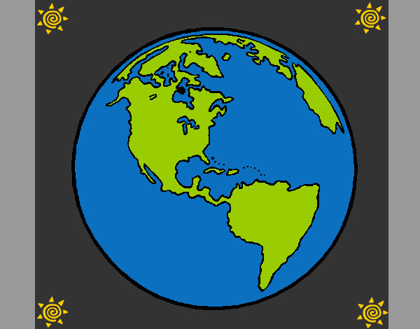 Dibujo De Planeta Tierra 1 Pintado Por Steffa En Dibujosnet El Día