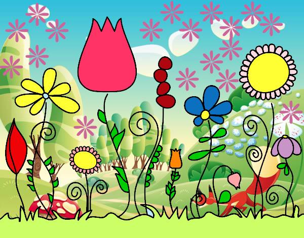 Dibujo De Primavera Pintado Por Andrea1415 En Dibujosnet El Día 08