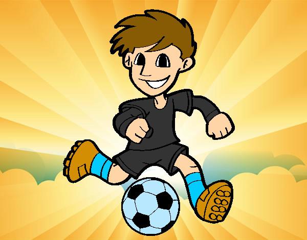 Dibujo De Fútbol Pintado Por Fustapa13 En Dibujos Net El: Dibujo De Jugador De Fútbol Con Balón Pintado Por