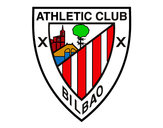 Dibujo Escudo del Athletic Club de Bilbao pintado por superbenji