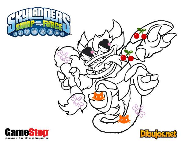 Dibujo De Skylanders Swap Force Fire Kraken Pintado Por Reyess En