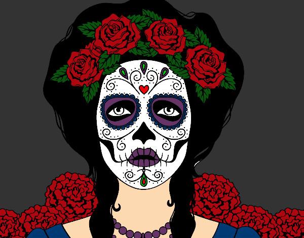 Dibujo De Mujer Calavera Mexicana Pintado Por Rayark En