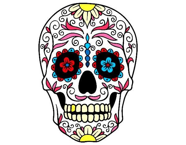 Dibujos De Calaveras Bonitas Para Colorear: Dibujo De Calavera Mejicana Pintado Por Falos En Dibujos