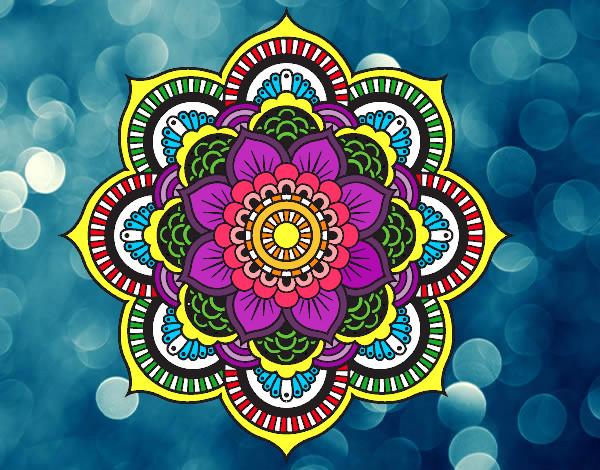 Dibujo de Mandala flor oriental pintado por Sofiaaaaaa en Dibujos