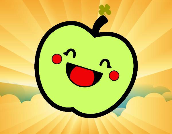 Dibujo De Apple Kawaii Pintado Por Luiisaomg En Dibujos