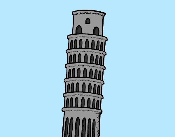 Dibujo De La Torre De Pisa Pintado Por Assin En Dibujos
