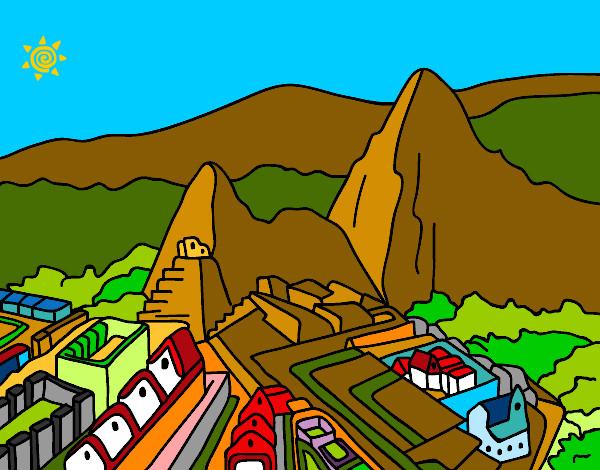 Dibujo De Machu Picchu Pintado Por Queyla En Dibujos Net El Dia 19