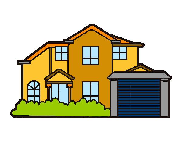 Dibujo de chalet pintado por colorista en el d a 06 04 15 a las 20 20 42 imprime - Cambio casa por chalet ...