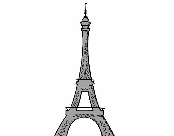 Torre Eiffel Dibujo Animado A Color: Dibujo De La Torre Eiffel Pintado Por En Dibujos.net El