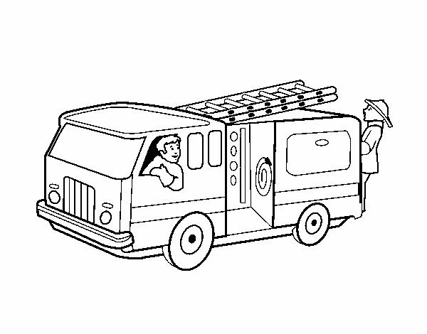 Dibujo de Bomberos en el camión pintado por en Dibujos.net el día 20 ...