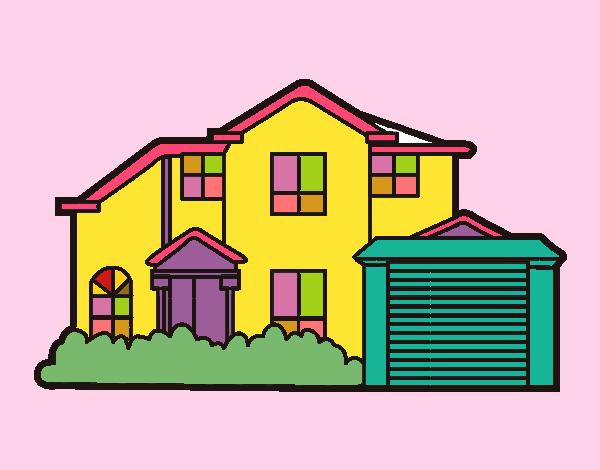 Dibujo De Casa Pintado Por Almita4000 En Dibujosnet El Día 26 04 15