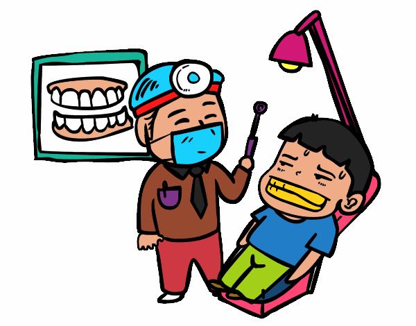 Dentista Con Paciente Pintado Por 9937719 on Dental Hygienist
