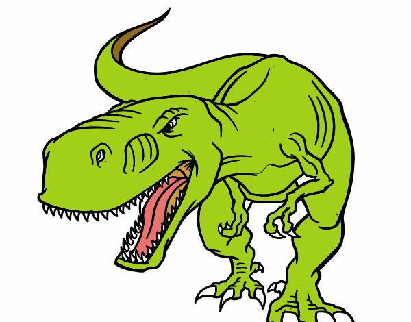 Dibujo De Dinosaurio Enfadado Pintado Por En Dibujos.net
