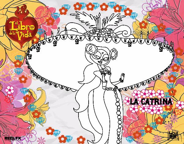 Dibujo De La Catrina Pintado Por En Dibujosnet El Día 26 04 15 A