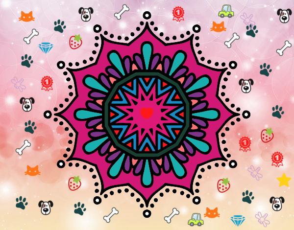 Dibujo De Mandala Del Amor A Los Animales Pintado Por En Dibujosnet