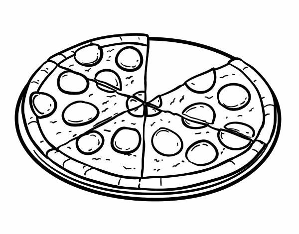 Dibujo de Pizza de pepperoni pintado por en Dibujos.net el día 21-04 ...