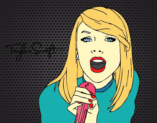 Dibujo De Taylor Swift Cantando Pintado Por En Dibujosnet El Día 20