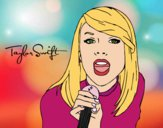 Dibujo Taylor Swift cantando pintado por Diamond