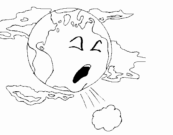 Dibujo de Tierra enferma pintado por en Dibujos.net el día 22-04-15 ...