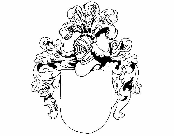 Dibujo de Escudo de armas y casco pintado por en Dibujos.net el día ...