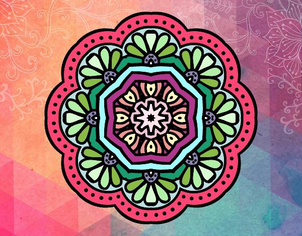 Dibujo De La Mandala Colorida De Los Triangulos Pintado Por En