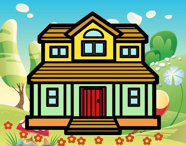 Dibujo de Casa victoriana pintado por en Dibujosnet el da 090515