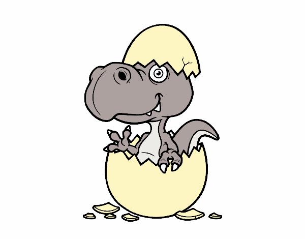 Dibujo de Dino saliendo del huevo pintado por en Dibujos.net el día ...