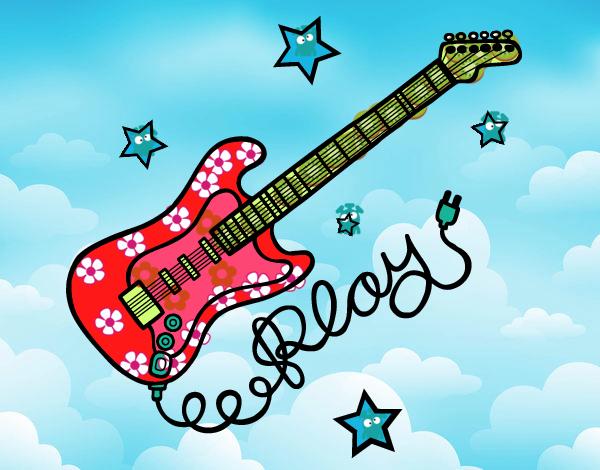 Dibujos De Guitarras Para Colorear Dibujosnet